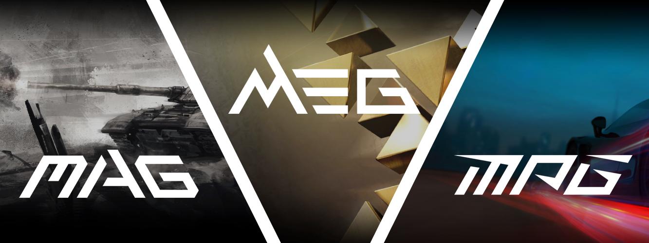 MSI - MAG MEG MPG skratky