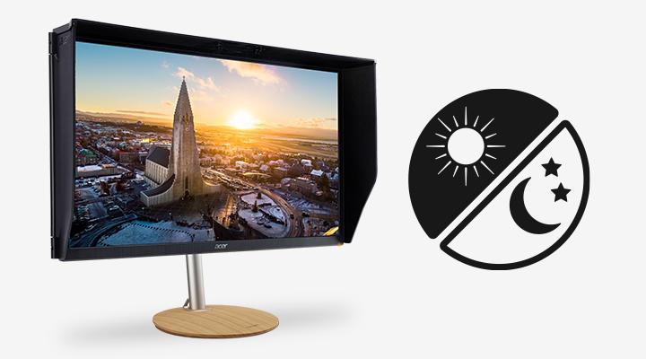 Profesionálny monitor Acer ConceptD CP3 svetelný snímač