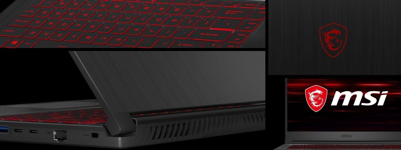 MSI GF65 Thin herný notebook s tenkým dizajnom